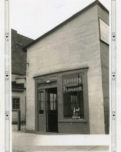 Boutique d'Alphonse Valois située au 4100, rue St-André en 1937 et 1938